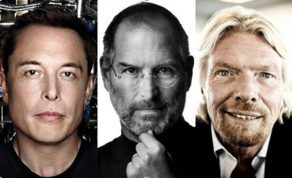 Musk, Jobs and Branson